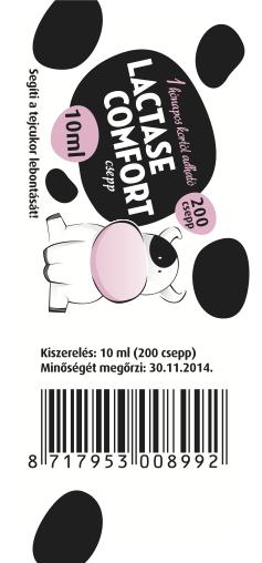 Lactase-Comfort-label